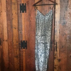 Sparkly midi dress from Topshop
